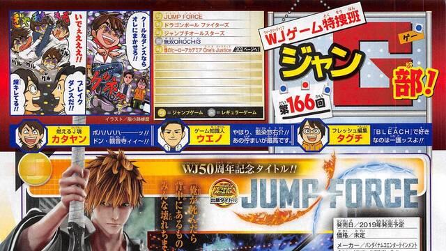 Ichigo Kurosaki, de Bleach, estará en JUMP Force