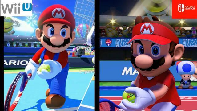Comparan Mario Tennis de Wii U con Mario Tennis Aces de Switch