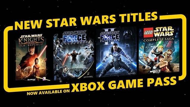Cuatro juegos de Star Wars se suman al servicio de Xbox Game Pass