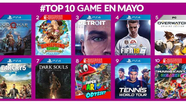 God of War fue el juego más vendido en GAME durante el mes de mayo