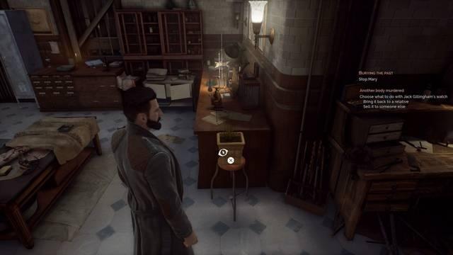 Cómo regar la planta del despacho de Jonathan Reid en Vampyr
