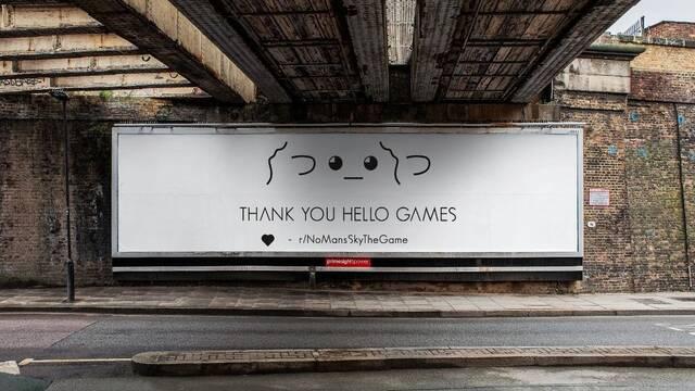 No Man's Sky: Compran una valla publicitaria de gratitud a Hello Games