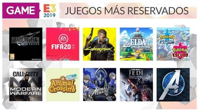 Estos han sido los juegos más reservados en GAME durante el E3 2019
