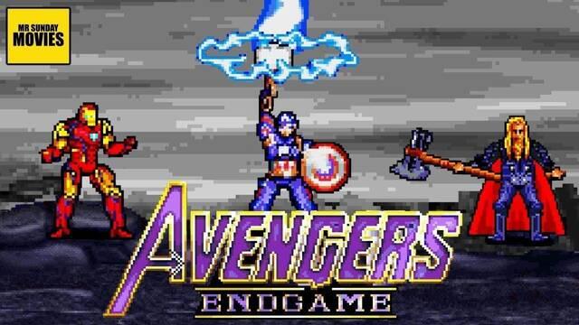Vengadores Endgame: Recrean la batalla final como un juego retro de 16 bits