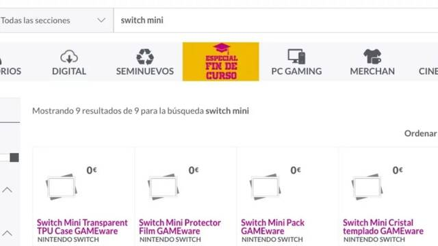 GAME recoge accesorios para la rumoreada Nintendo Switch Mini