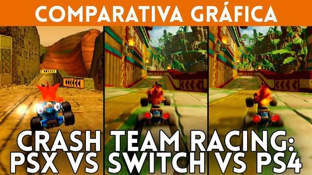 Crash Team Racing Nitro-Fueled: Comparamos PSX vs Switch vs PS4