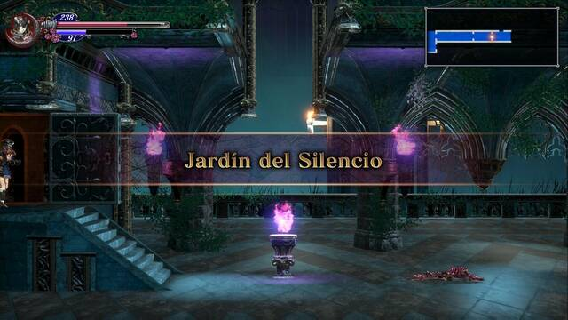 Jardín del Silencio al 100% en Bloodstained: Ritual of the night