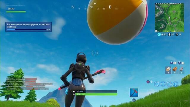 Desafío Fortnite: Bota una pelota de playa gigante en partidas distintas - SOLUCIÓN