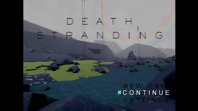 Así sería Death Stranding como un juego de la primera PlayStation