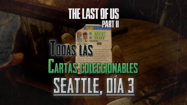 TODAS las cartas coleccionables de Seattle, día 3 en The Last of Us 2