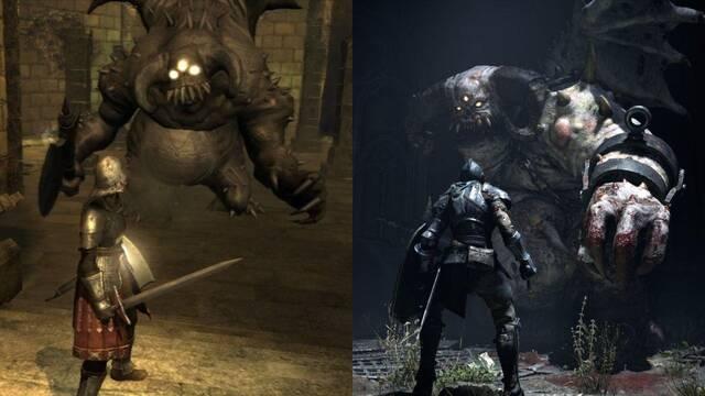 Comparan el Demon's Souls original con su remake para PS5.
