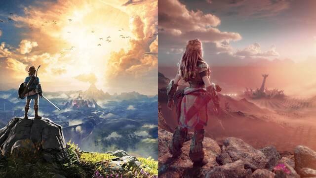 Similitudes entre Horizon 2: Forbidden West y Zelda: Breath of the Wild.