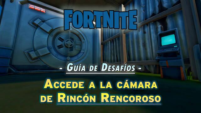 Desafío Fortnite: Accede a la cámara del Rincón Rencoroso - SOLUCIÓN