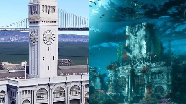 Horizon 2: Forbidden West: comparación entre localizaciones del tráiler y la San Francisco real.