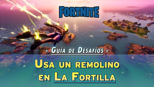 Desafío Fortnite: Usa un remolino en La Fortilla - Localización
