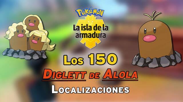 Localización de los 150 Diglett de Alola en la Isla Armadura y recompensas