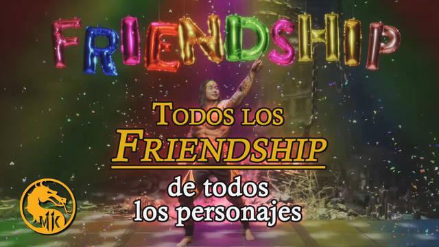 Mortal Kombat 11: cómo hacer el Friendship de todos los personajes