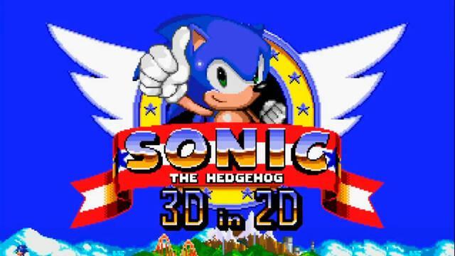 Sonic 3D in 2D gratis imagina Sonic 3D en 2D