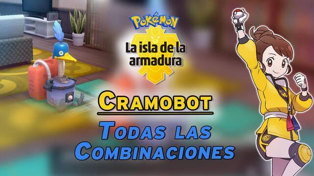Cramobot en Isla de la Armadura: TODAS las combinaciones y recetas disponibles