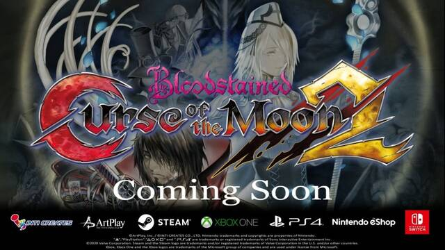 Bloodstained: Curse of the Moon 2 anunciado para PS4, Xbox One, Switch y PC.