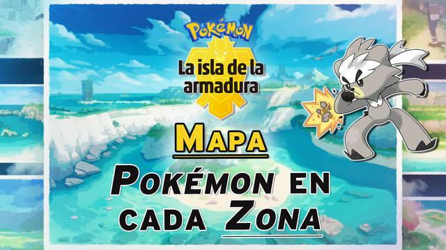 Mapa de la Isla de la Armadura: TODOS los Pokémon disponibles en cada zona