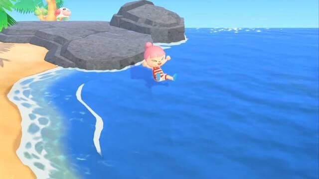 Se podrá nadar en Animal Crossing: New Horizons a partir del 3 de julio.