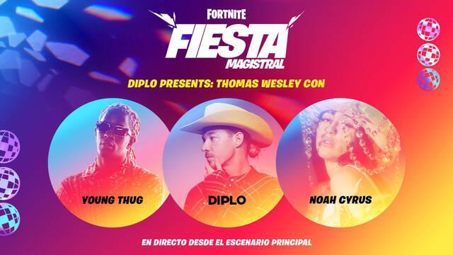 Fortnite: Evento de Diplo, Young Thug y Noah Cyrus; fecha y cómo ver el concierto