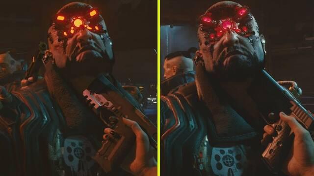 Comparativa gráfica de Cyberpunk 2077: tráiler de 2018 vs. tráiler de 2020.