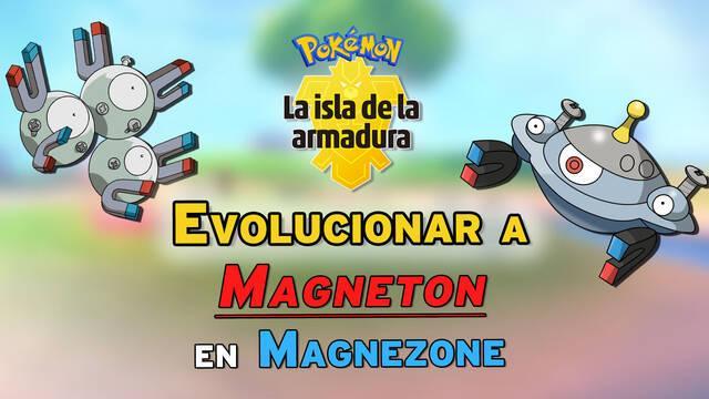 Cómo evolucionar a Magneton en Magnezone en Pokémon: Isla de la Armadura