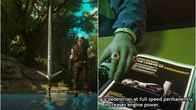 Cyberpunk 2077 y The Witcher 3: más easter eggs