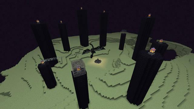 Cómo crear un portal al Ender Dragon en Minecraft
