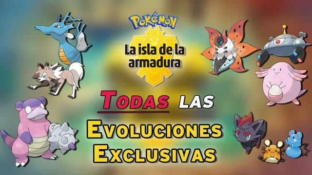 TODAS las evoluciones exclusivas de Pokémon La Isla de la Armadura (DLC)