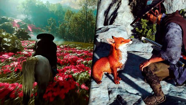 Ghost of Tsushima flora y fauna exclusivo PS4