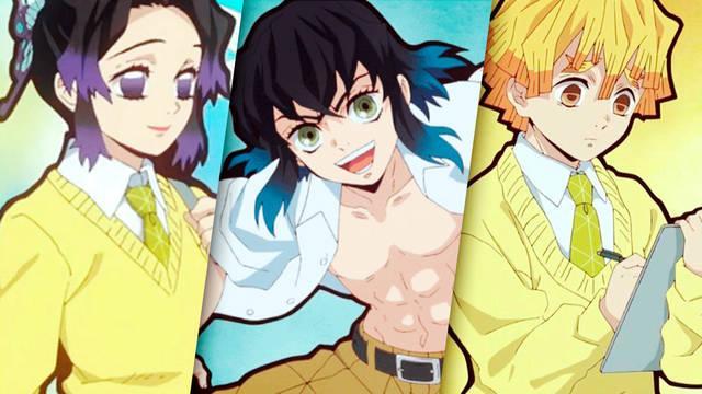 Demon Slayer: Kimetsu no Yaiba confirma más personajes del 'spin-off' Kimetsu Gakuen
