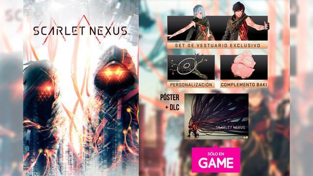 GAME España te ofrece un DLC y póster exclusivo por la reserva de Scarlet Nexus