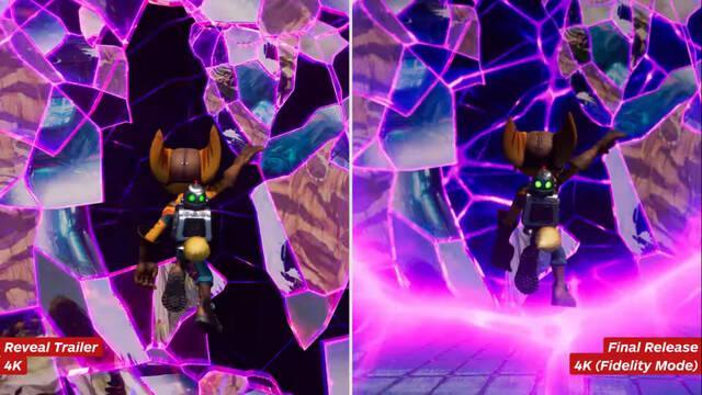 Ratchet and Clank: Una Dimensión Aparte: Comparan el tráiler de anuncio con el juego final.