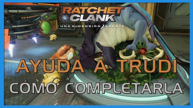 Ayuda a Trudi en Ratchet & Clank: Una dimensión aparte al 100%