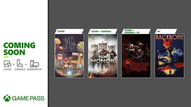 Xbox Games Pass recibirá For Honor, Backbone, Darkest Dungeon y The Wild at Heart