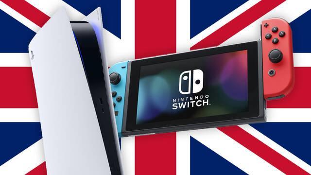 PS5 supera a Switch como la consola más vendida de Reino Unido en 2021.