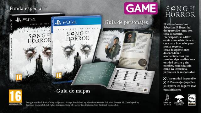 Song of Horror ya disponible para reservar en GAME.