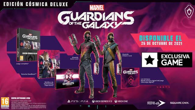 Ya puedes reservar la Edición Cósmica Deluxe Marvel's Guardians of the Galaxy en GAME