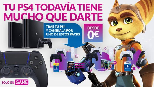 Lleva tu PS4 a GAME y consigue nuevos packs