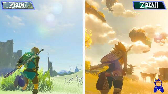 Zelda Breath of the Wild 2: un nuevo vídeo compara la secuela con la entrega original