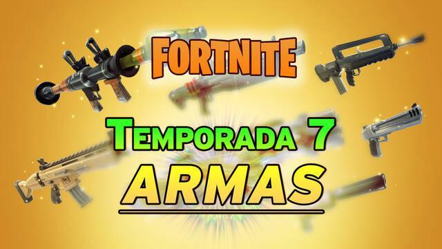 Fortnite: TODAS las armas de la Temporada 7 y cuáles son las mejores