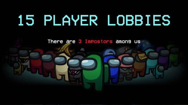 Among Us y los lobbies de 15 jugadores