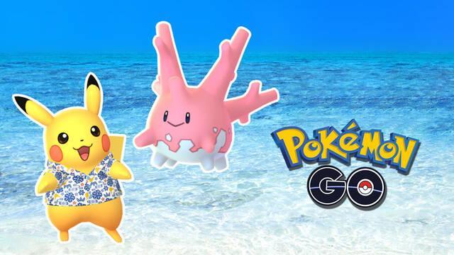 Pokémon GO anuncia a Corsola variocolor y Pikachu con camisa kariyushi
