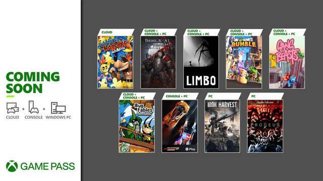 Game Pass julio Xbox y PC