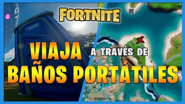 Fortnite: viaja a través de baños portátiles - LOCALIZACIÓN