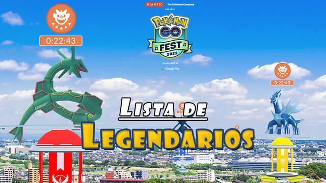 Pokémon GO Fest 2021: Todos los Legendarios confirmados del día de incursiones