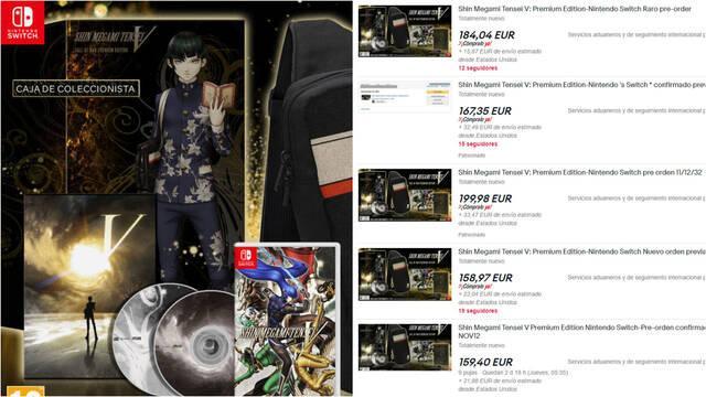 Shin Megami Tensei V edición coleccionista Fall of Man especulación ebay